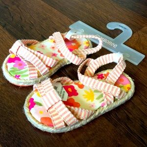 NWT Gymboree Baby Girls Size 3 sandals floral